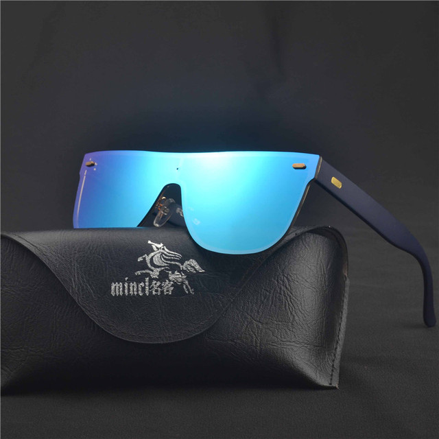 414312496e MINCL  unisex big one piece lens sunglasses men rimless metal cool men  shades for women