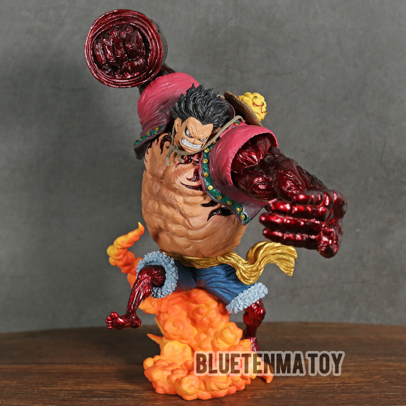 Anime 1 8th Scale One Piece Bound Man Monkey D Luffy Gear 4 Kong Gun Crimson