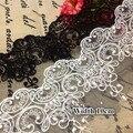 5 Yardas/porción Tela de encaje Negro Blanco Dulce Cordadas Ropa Accesorios de Encaje Bordado Del Ajuste Del Cordón Del Arte de DIY Materiales RS80