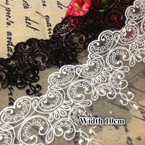 5Yards/Lot Fabric lace Black...