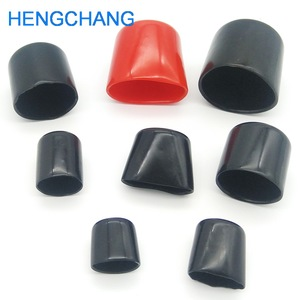 Image 5 - 14mm 30mm Rubber cover End cap PVC Plastic Cable wire thread cover vinyl End cap PVC rubber steel pole tube pipe protect 50pcs