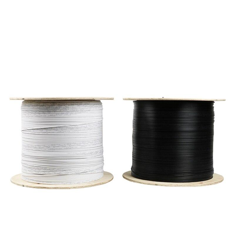 2000m/roll Single core single-mode outdoor FTTH fiber optic Drop Wire Cable LSZH sheath G657A FTTH outdoor Fiber Optic Cable