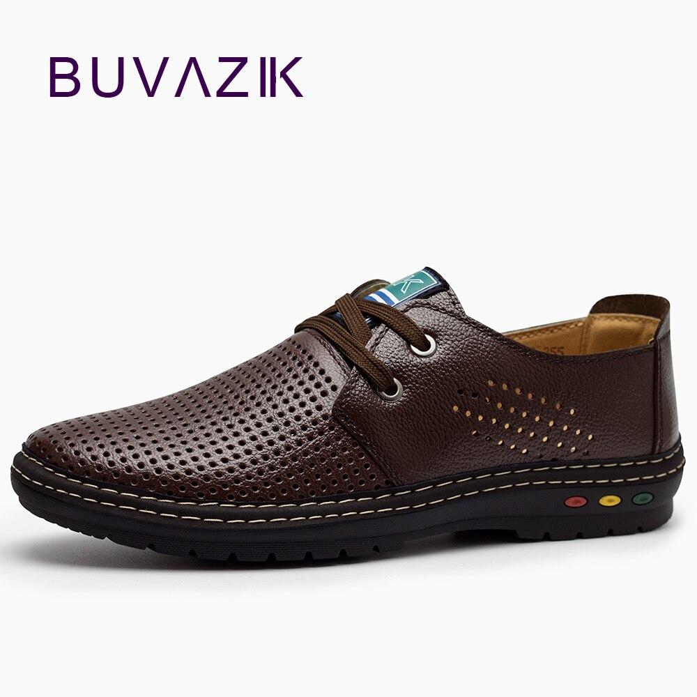 Véritable Cuir Hommes occasionnels chaussures D'été 2018 Respirant Conduite Douce Hommes de Main chaussure homme Net Surface Mocassins