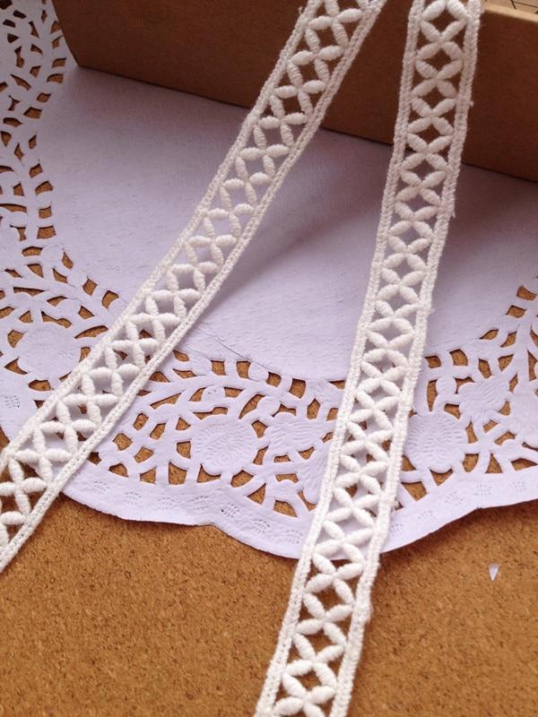 d948403f4 1.5 cm 10 yarda/Lot soluble en agua del cordón de algodón blanco DIY  accesorios de encaje bordado