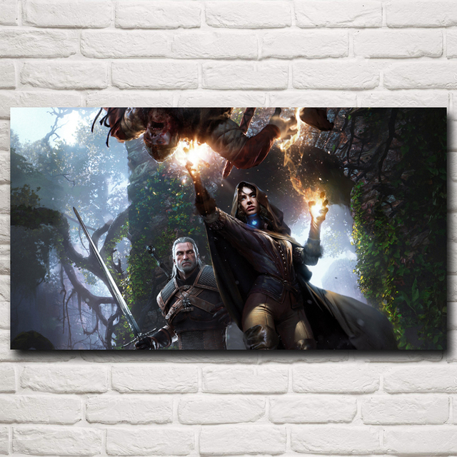 The Witcher 3 Wild Hunt Geralt Yennefer of Vengerberg Game Art Silk Poster Home Decor Printing 11×20 20×36 Inch Free Shipping