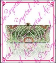 Aidocrystal shenzhen green ang weiß kristall geldbörse mode abend kupplungen elegante damen einzelner schulterbeutel