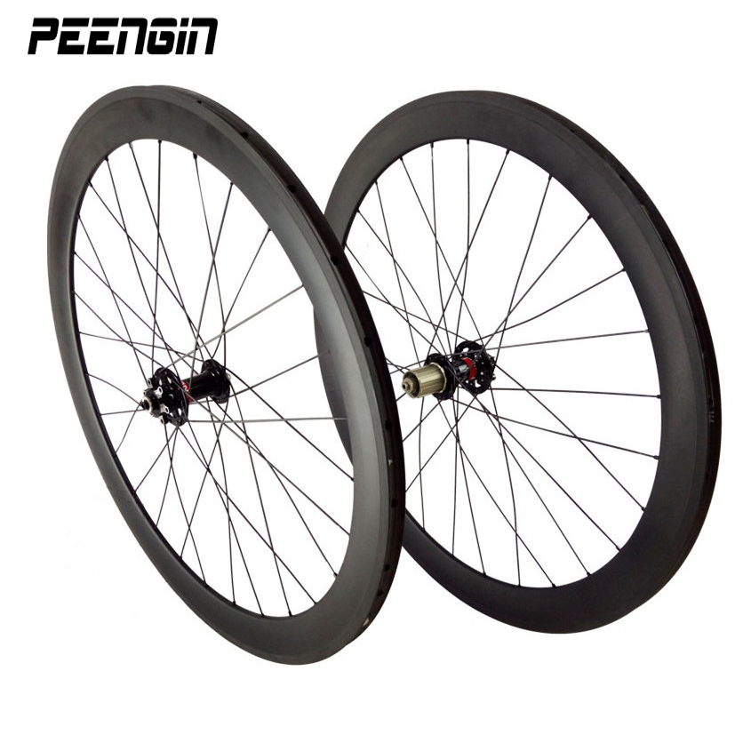wheelset cyclo cross carbon road wheels disc brake clincher 50mm Front 2 sealed bearing OLD 100/135mm Rear 4 bearing hub XD body