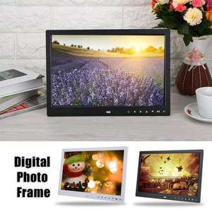 15 inch Digital Photo Frame 2018 HD Touch Screen MP3 MP4 Movie Player Alarm Photo