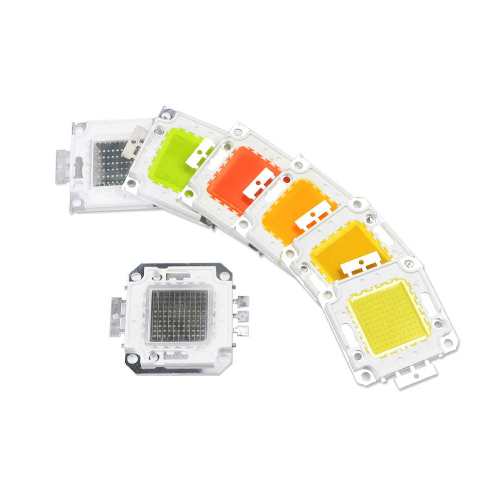 10PCS 7colors 10W 20W 30W 50W 100W High Power Integrated LED COB lamp Chips SMD Bulb RGB  For Floodlight Spot light