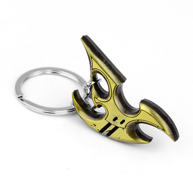 New Game Blizzard Starcraft ii Protoss Logo Metal Keychain Men Porte Clef Chaveiro Key for Men Holder 2