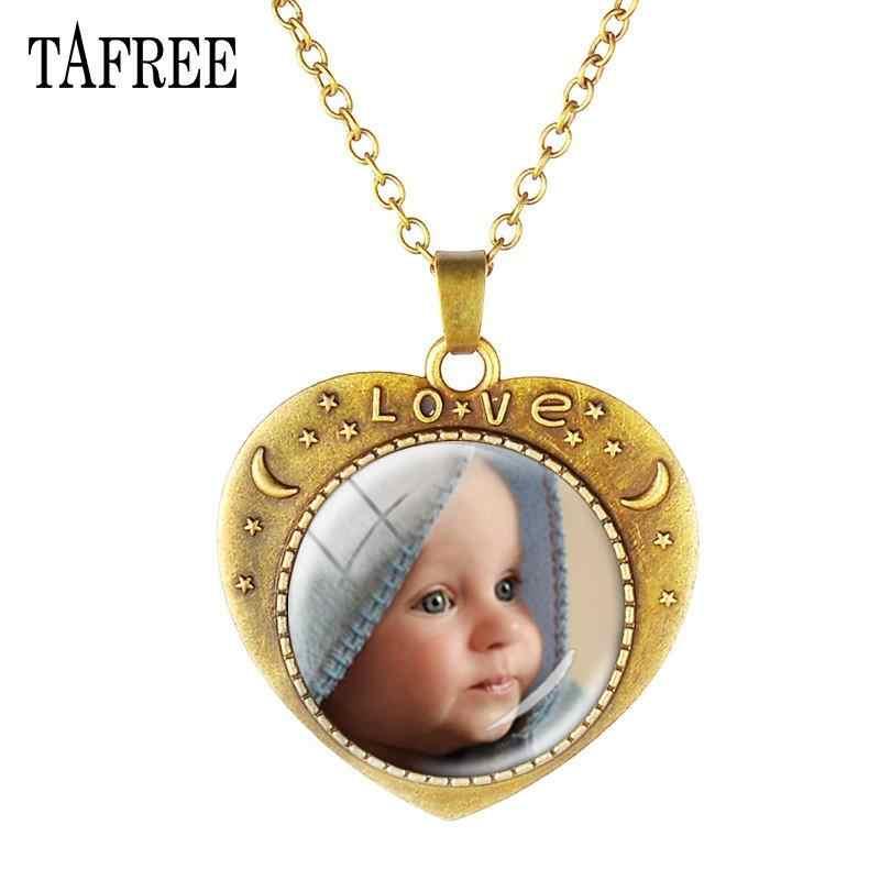 TAFREE персонализированное ожерелье на заказ фото вашей мамы, папы, ребенка, детей, дедушки, родителей, изготовление под заказ, фото ювелирные изделия NA01