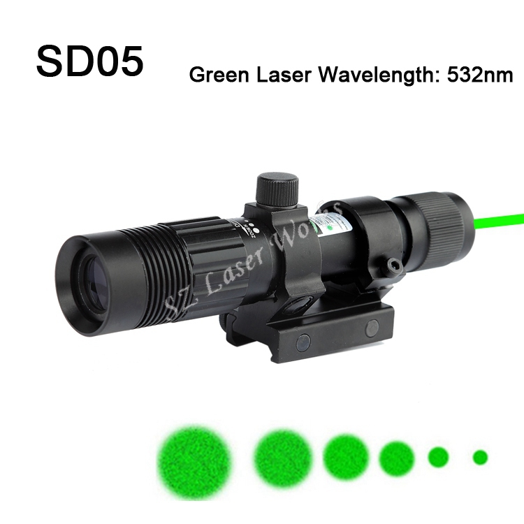 High quality Adjustable 532nm green Laser riflescope Hunting Air soft gun scope sight with Mounts airsoft.gun Free Shipping