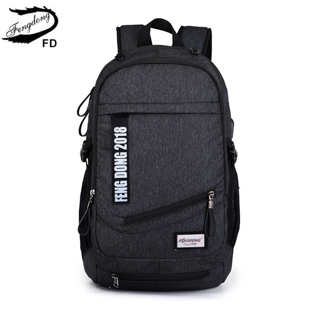 FengDong men laptop backpack male notebook