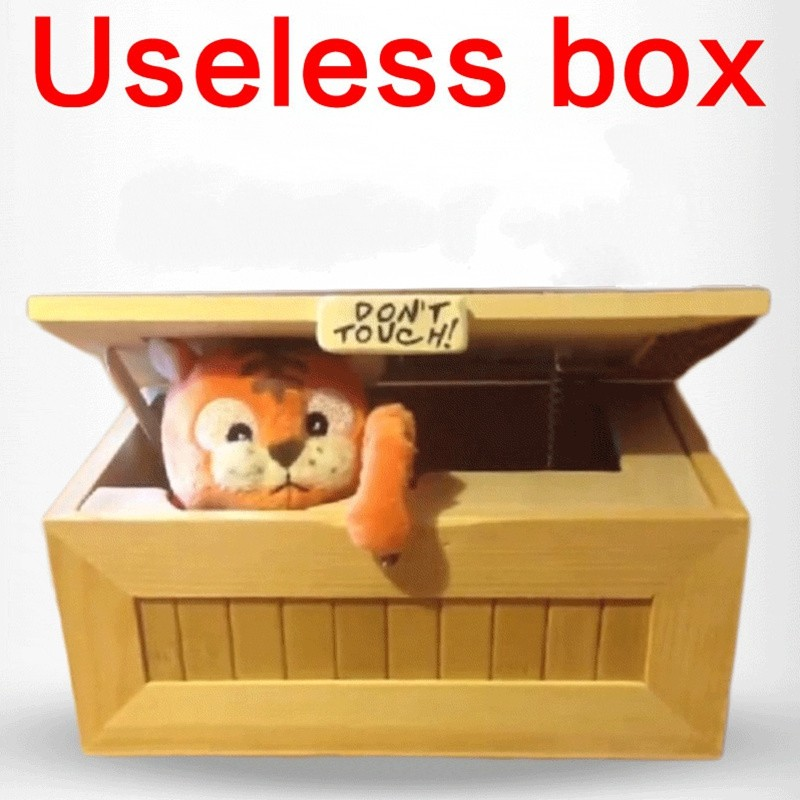 2016 Fashion Cartoon Tiger Useless Box Creative Adult Gifts Gags And Practical Jokes Funny Toys For Friends And Kids