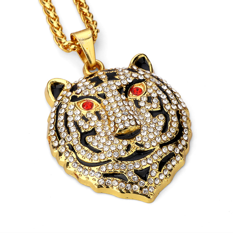 New Pendant Necklaces Bear Men Women Hip Hop Jewelry Gold Plated Full Rhinestone Filling Pieces