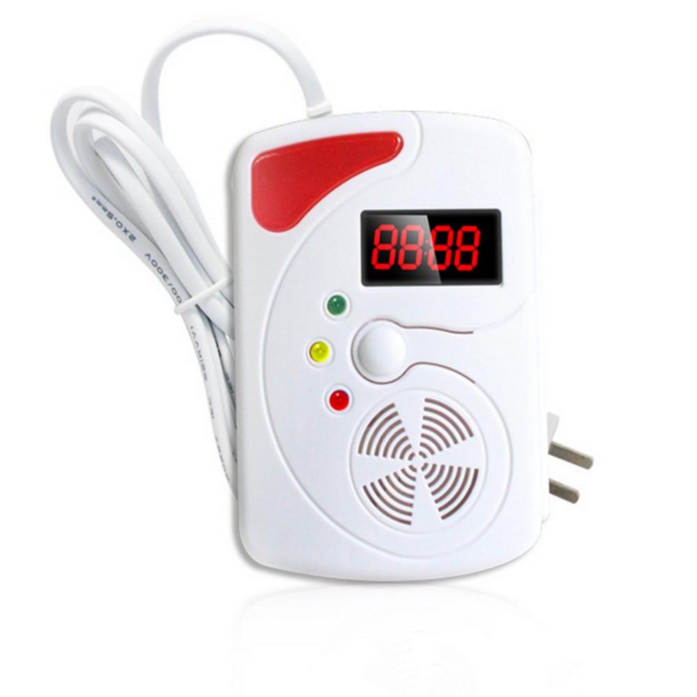 Smart LED Digital Display Voice Gas Detector Gas Alarm System LPG Household Leakage Detector Sensor Detect Natural Gas Coal Gas ...