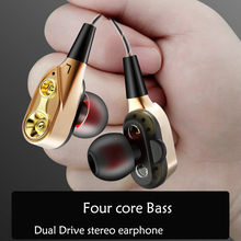 Original Fonge R6 Wired earphone High bass dual driver stereo In-Ear Earphones With Microphone Compu