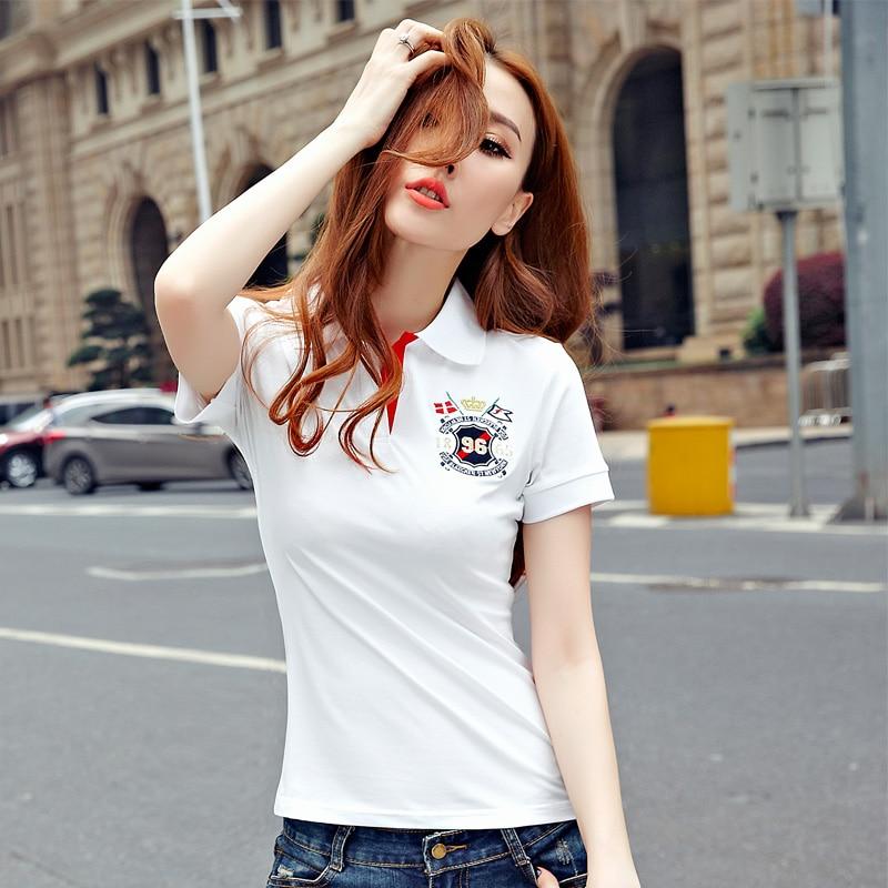 High quality sexy womens ladies poloshirt cotton shirts for Womens white shirts high quality