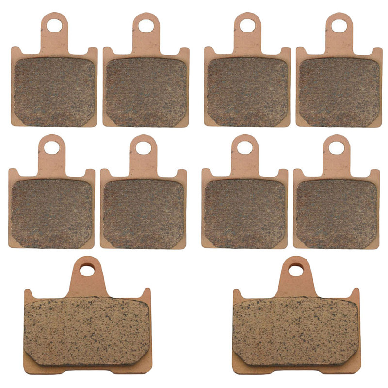 Motorcycle Parts Copper Based Sintered Motor Front & Rear Brake Pads For Kawasaki ZZR1400 ZZR 1400 2006-2009 Brake Disk sintered copper motorcycle parts fa252 front brake pads for yamaha fzs 600 fazer 98 03