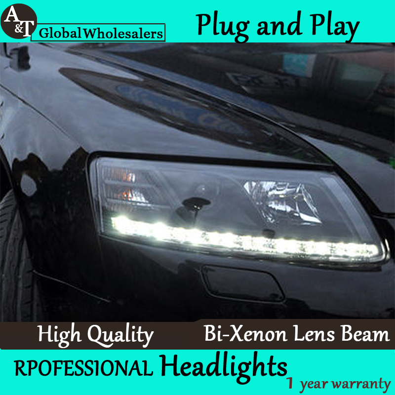 Car Styling for Audi A6 C5 Headlights 2005-2008 A6 LED Headlight DRL Lens Double Beam H7 HID Xenon bi xenon lens выкатной диван софия