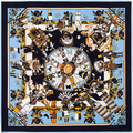 100 см * 100 см Twill Шелковый Евро Бренд Французский дизайн пользовательских моделей Чжан Цзыи миф Хопи куклы шелка саржевого большой квадратный шарф 6120