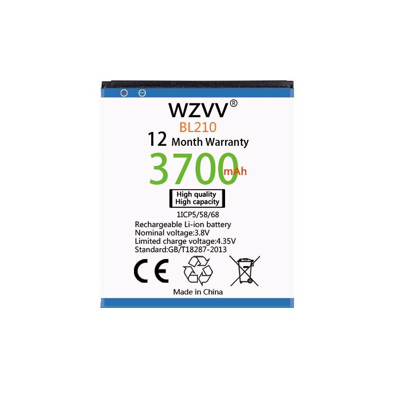 BL210 wzvv 3700 mAh Bateria de Substituição Para Lenovo A536 A606 S820 S820E A750E A770E A656 A766 A658T S650 baterias