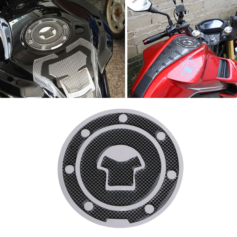 New 1 Pc Motorcycle Carbon Fiber Tank Pad Tankpad Protector Sticker Decoration For HONDA CBR600 F2 Motorbike Accessories image