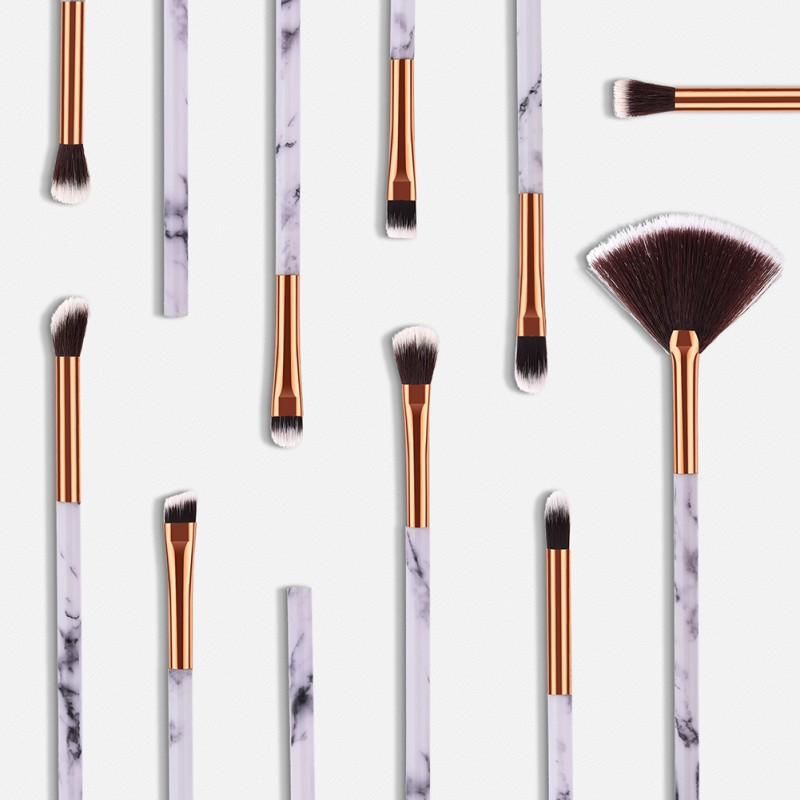 New Brand 1/4/10 Pcs Marble Makeup Brush Kit Soft Hair Brush Eyebrow Eye Shadow Makeup Tools