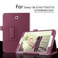 Для Samsung Galaxy Tab S2 8.0 Sm-t710/T715 Tablet Случай Личи PU Кожаный Чехол Tablet Тонкий Защитной оболочки Бесплатная Доставка