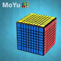 MofangJiaoshi MoYu MF9 cubo sin adhesivo Meilong 9x9x9 cubo mágico 9 capas forma 9x9 velocidad rompecabezas Cubo juguetes educativos chico
