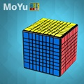 MofangJiaoshi cubo sin adhesivo Meilong MoYu MF9 9x9x9 cubo mágico 9 capas forma 9x9 velocidad rompecabezas Cubo juguetes educativos chico