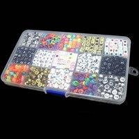 15 Màu Sắc/1100 cái Letter Hạt cho Tùy Chỉnh Tên trên Pacifier Clips Hỗn Hợp Shape DIY Acrylic Alphabet Beads KQS8