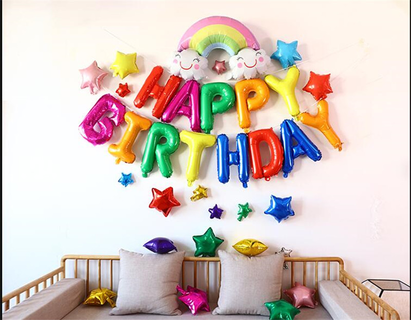 Unicorn Party Foil Balloon Unicornio Air Globos Wedding Birthday Party Decorations Kids Toy Supplies Cartoon Hat