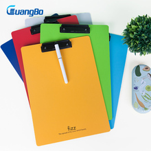 GUANGBO Clipboard Plate Door Translucent Block clip for Paper A4 Office School Supplies Office Accessories Document Paper Clips