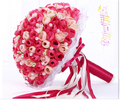 2017 New Arival Flowers Cheap Romantic Pink&Red Bridal Bridesmaid Handmade Artificial Rose Wedding/Bridesmaid Bouquets