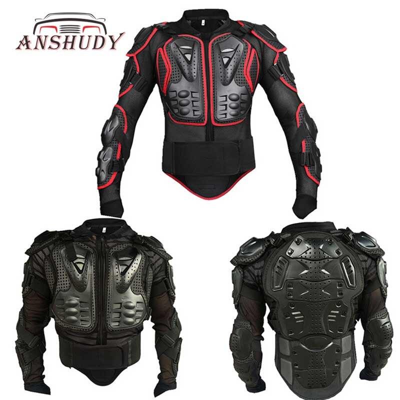 Noir/Rouge Moto Corps Vestes De Protection Retour Armure Équipement de Moto Cross Vêtements Motor Rider Racing Protection Coupe-Vent M-XXXL