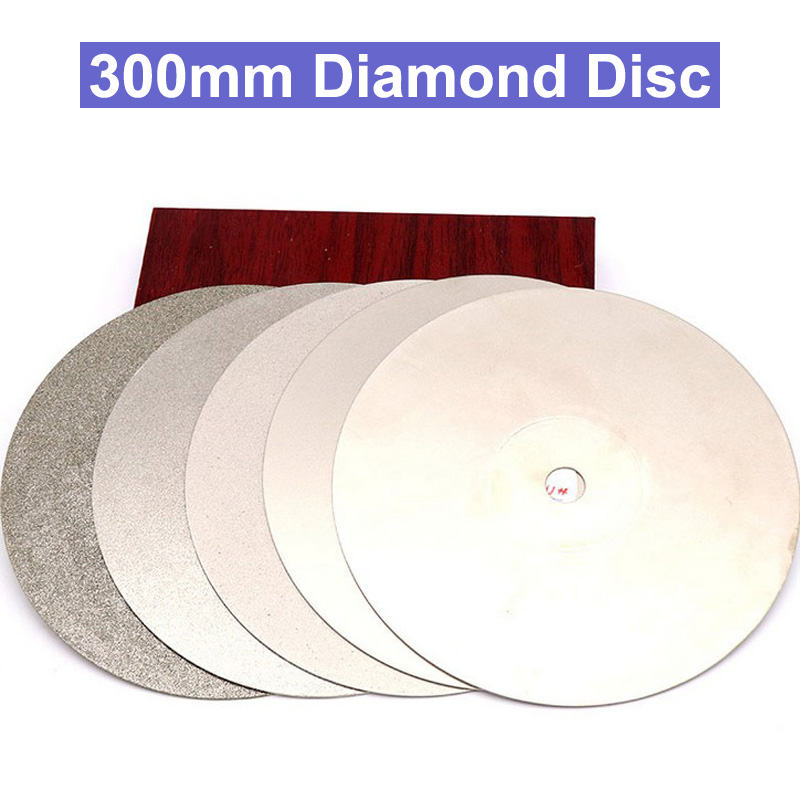 цена на 12 300mm Diamond Grinding Polishing Disc Arbor 12.7mm Diamond coated Flat Lap wheel Jewelry grinding polishing disc Tool