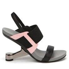 2017 frauen Seltsame Ferse Damen High Heels Sexy Sommer Sandalen Abendkleid Schuhe Frau Plattform Sandale Frauen Pumpen Alias Mujer