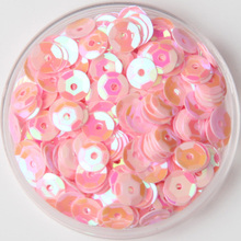 3000pcs/lot (30g)  Pink color 6mm Facetedt round loose sequins Paillettes sewing Wedding craft DIY Good quality Free Shipping