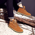 Hotsales The new winter men nubuck leather short plush Martin boots male British short boots
