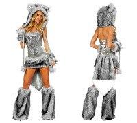 זול למבוגרים בעלי חיים ליל כל הקדושים תלבושות נשים Cosplay תלבושות פנדה חתול חמוד זאב שועל קוף נמר פיקאצ 'ו תלבושות למכירה