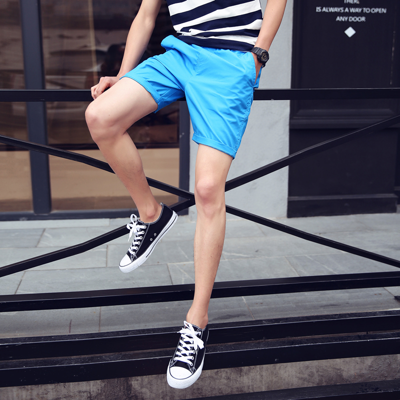 New 2017 Summer Solid Color Casual Shorts Men Elastic Waist Cotton Mens Shorts Beach Shorts Men's Clothing Size M-3xl DK3