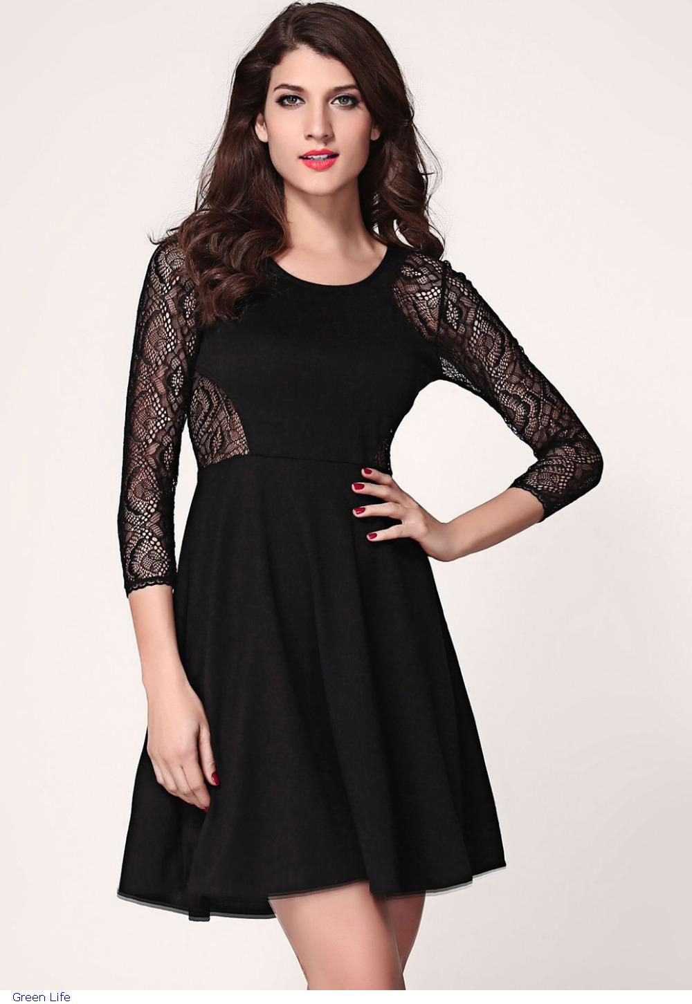 985030bfb5574 2015 Real New Robe Party Dresses Womens Novelty Office Autumn ...