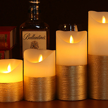 Gold and Ivory LED Candles