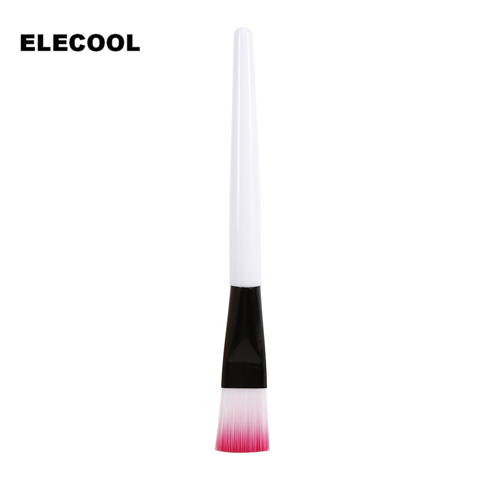 ELECOOL 1pc White/Pink Hair Portable Easily-operated Facial Mask Brushes Face/Eyes Make Up Cosmetic Beauty Soft Brush Tool