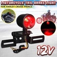 For Harley Bobber Cafe Racer DIY Motorcycle RED Brake Tail Rear Light Bulb Custom 12V Motorbike Turn Signal Brake Lights