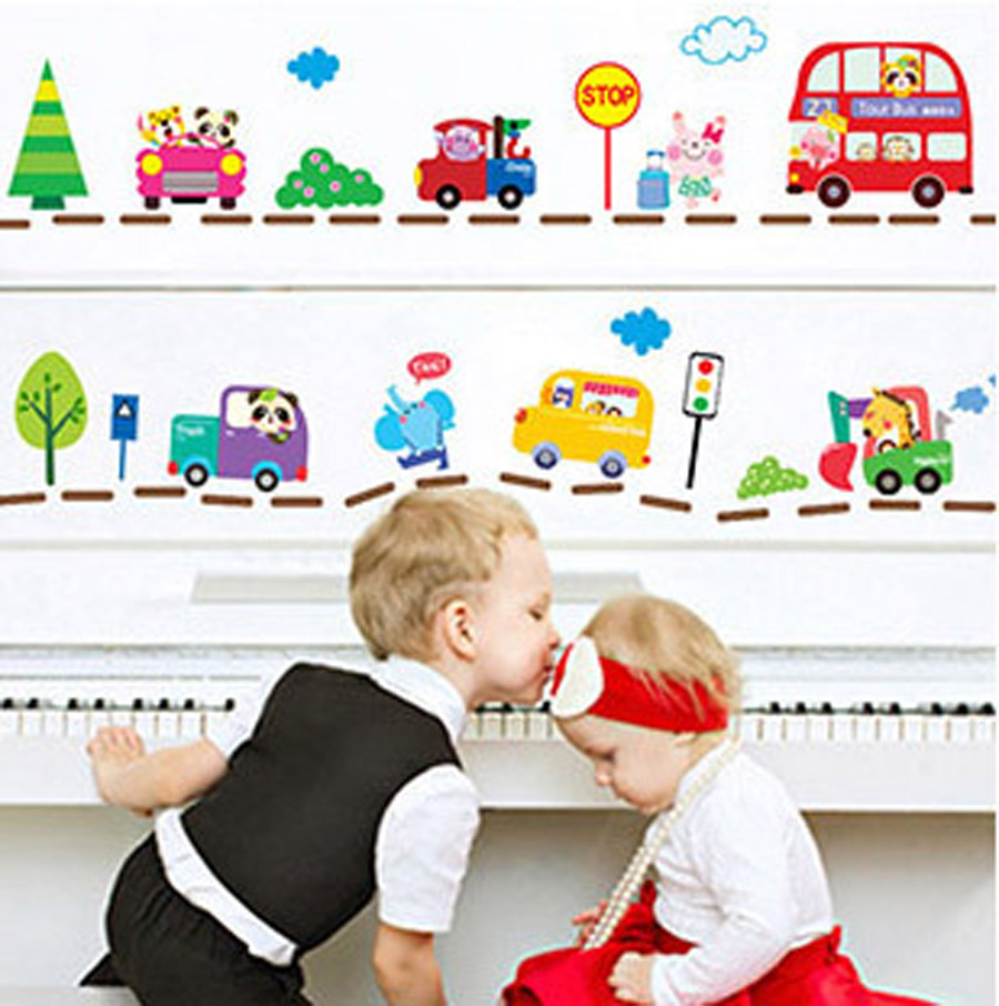 Hot sale cute cartoon cars traffic wall sticker baby boys room 2016 hot sale cute cartoon cars traffic wall sticker baby boys room decorative automobile stickers poster for amipublicfo Gallery