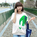 Tee tops ropa de verano de manga corta camiseta de maternidad ropa para mujeres embarazadas de corea lindo del elefante de la historieta