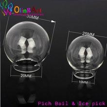 OlingArt 6pcs/lot 24mm /30mm Glass Pendant glass bottle vial necklace Vintage Mini Wish Bottle Necklace Jewelry DIY Women Gift