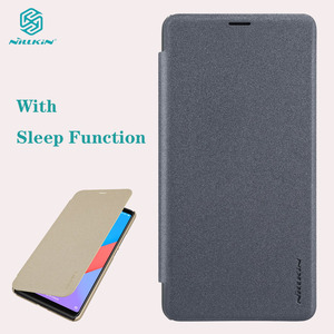 Image 1 - For Xiaomi Mi Max 3 Flip Case NILLKIN Sparkle Super Thin Flip Cover PU Leather Case for Xiaomi Mi Max 3 with Sleep Function